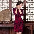 Free shipping Vestidos Cheongsam Dress Vintage Qipao Dress Qipao Cheongsam Evening Dress Chinese Traditional Dress 3 colors