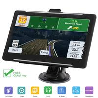 7 Inch Car GPS Navigator RAM 256G ROM 8GB HD Touch Screen Bluetooth AV IN FM MP3/MP4 Players Vehicle Navigation
