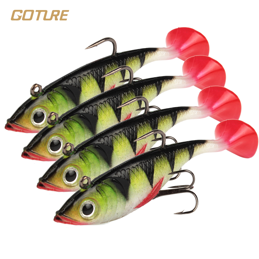 Goture 5pcs/lot 11g 8.5cm Soft Fishing Lures Artificial Bait Luminous Lead Fishing Jig Wobblers Lure Sea Fishing Tackle