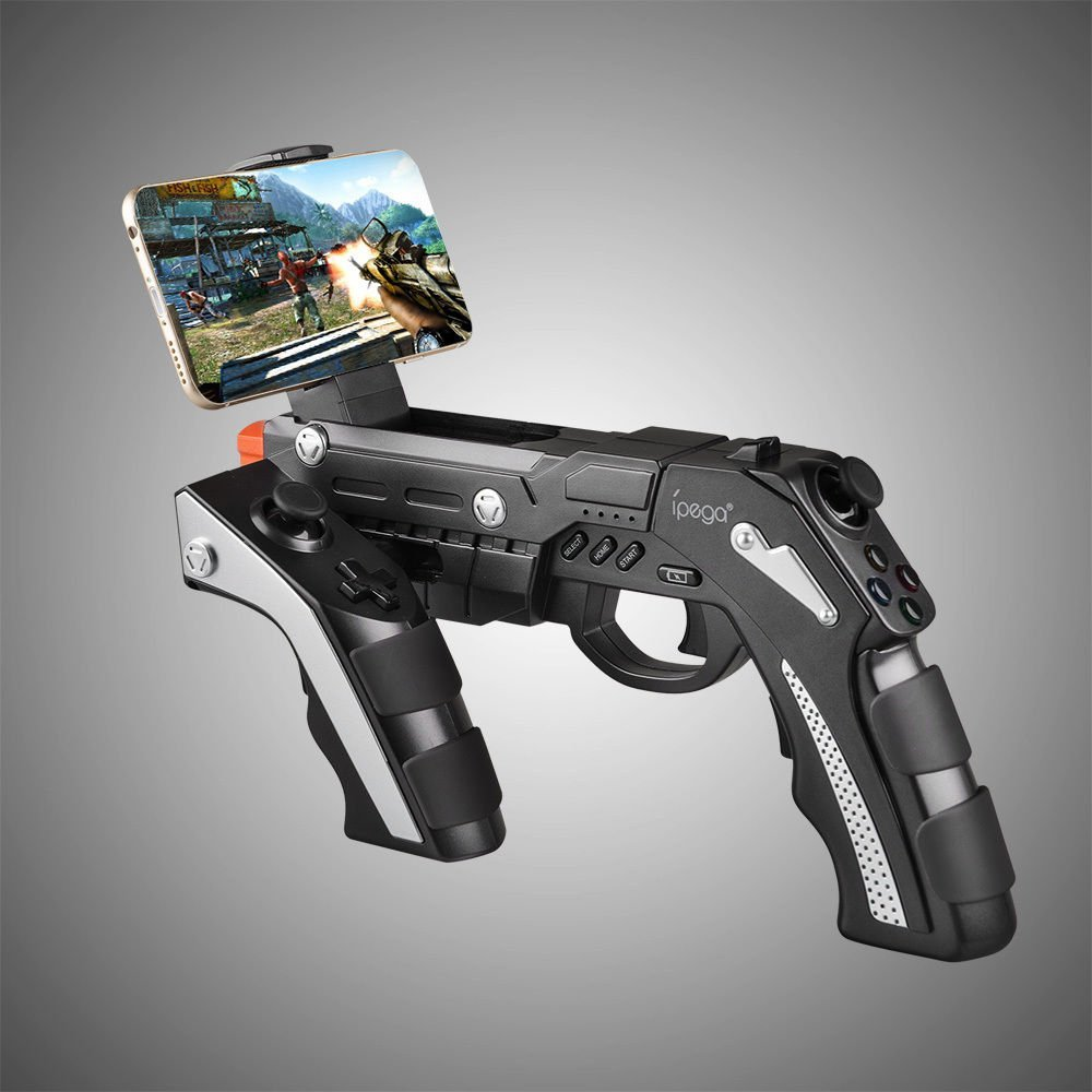 Ipega PG-9057 Bluetooth Wireless Game Controller Gun Android Telescopic Joystick For iPhone/for iPad/Android Phone IOS Tablet PC gamesir g3v wireless bluetooth controller phone controller for ios iphone android phone tv android box tablet pc vr games