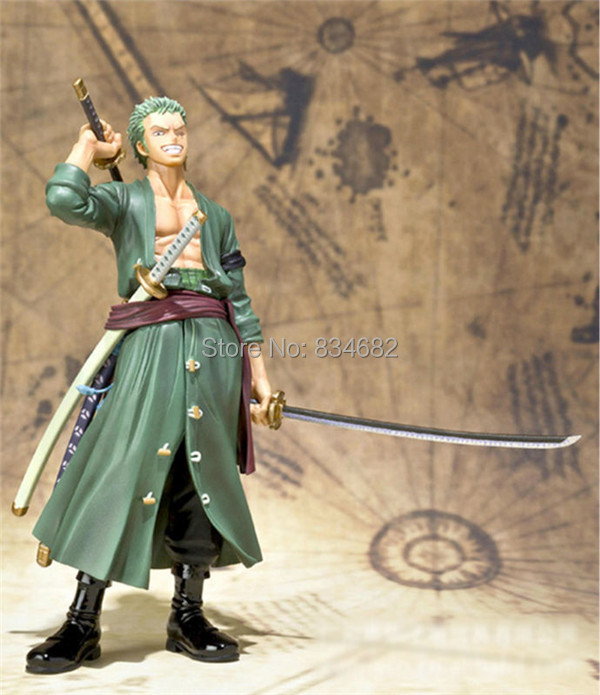 Anime Roronoa Zoro Action Figure Toys 16cm(6.3) PVC doll without Original Box One Piece