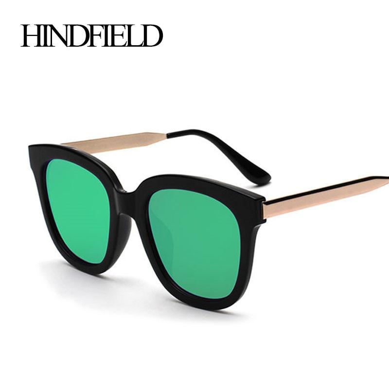 HINDFIELD Moda estilo Verão Óculos De Sol Das Mulheres Marca de Luxo  Projeto Armações De Metal Óculos de Sol Para Mne Oculos de sol Feminino b0bd2ba46d