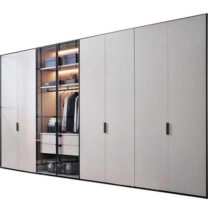 US $1399.0  Modern modular free standing bedroom furniture white 8 door  wardrobe-in Bedroom Sets from Furniture on AliExpress