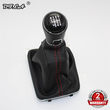 For VW Golf 7 MK7  GTD GTI Variant 2013 2014 2015 2016 2017 2018 Car-Styling 6 Speed Gear Stick Shift Knob Leather Boot Red Line все цены