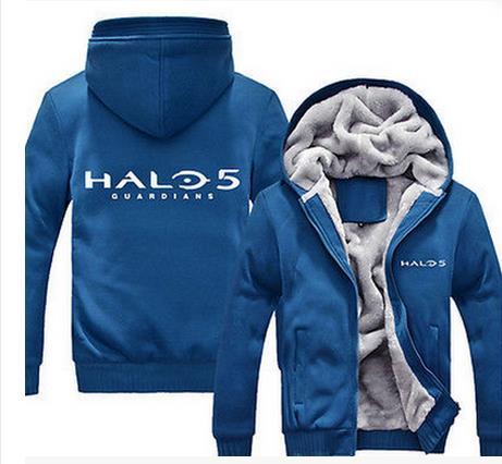 Molletonnés 5 Hiver Casual Up Jeu Tuteurs Polaire Super Hoodies Zip bleu Pulls Chaud Bleu Noir Mens Halo Manteaux Noir RWcHnFc