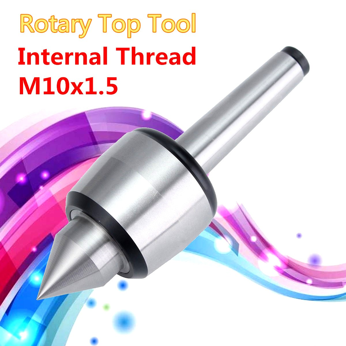 Internal Thread Insert type live center Rotary Top Precision Rotary Live Center Shaft Taper For M10x1.5 MT2 MK2 milling Lathe-us gktools live centre rotation center cone z019 used for mini multifunction lathe