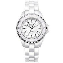Luxury brand женщины часы 2016 мода повседневная элегантный керамический белый кварцевые наручные часы женщины водонепроницаемый 100 м casima #6702