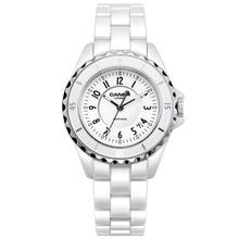 Marque de luxe Femmes montres 2016 mode casual élégant en céramique Blanc bracelet à quartz montre Femmes Étanche 100 m CASIMA #6702