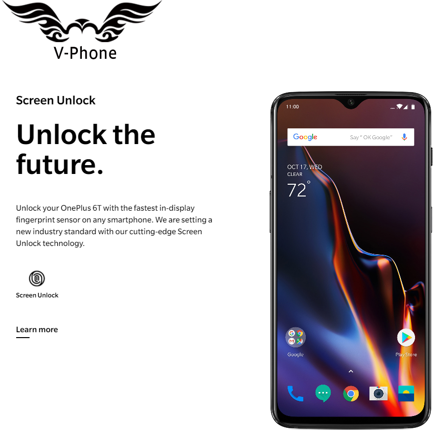 US $582 18 19% OFF|Oneplus 6T 128GB Mobile Phone Snapdragon 845 Octa Core  6 41