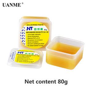 Image 2 - UANME NT ZJ 18 50g 80g 150g Yellow paste Advance Quality Solder Flux Soldering Paste High Intensity Free Rosin