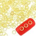 100 Pçs/lote Projeto Anéis de Ouro Cor de Cobre Rodada Suprimentos Unhas Encantos Diy Metal Studs Para Unhas 3D Decorações Da Arte Do Prego PJ420