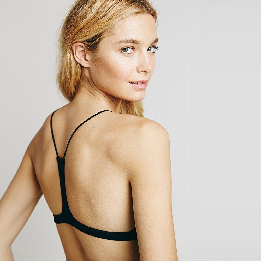 73a40ca21f324 Free Shipping Bralettes Bra Women s Unlined Brassiere Simple Crop Top Sexy  Intimate Underwear Bra Set Thin Straps B C D DD Cup-in Bras from Underwear  ...