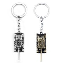 Men Ribbon Game World of Tanks Wot KeyChain Alloy Metal Tank Model Pendent Keychain Gift Key Ring Holder Car Fans Souvenirs