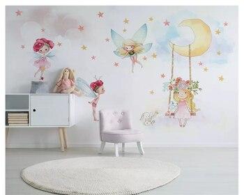 Beibehang Nordico Moderno Minimalista Pintado A Mano Lindo Moda 3d - Papeles-de-decoracion
