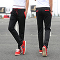 2016 Otoño y El Invierno Nueva Moda de Los Hombres Pantalones Coreano Marea Hombres Tether de Mediana altura Pantalones Casuales Pies pantalones AXD1415