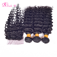 Malaysian Deep Wave With Closure Malaysian Curly Hair With Closure Cheap Deep Wave Hair With Lace Closure Gossip Hair Products