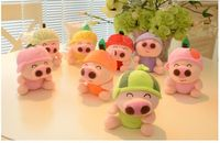 Lovely Fruit Mcdull Pig Plush Toy 18cm Doll Baby Toys One Lot 8 Pieces Toys Party