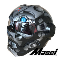 2018 Grey Black Bumblebee MASEI 610 IRONMAN Iron Man Helmet Motorcycle Half Helmet Open Face Helmet