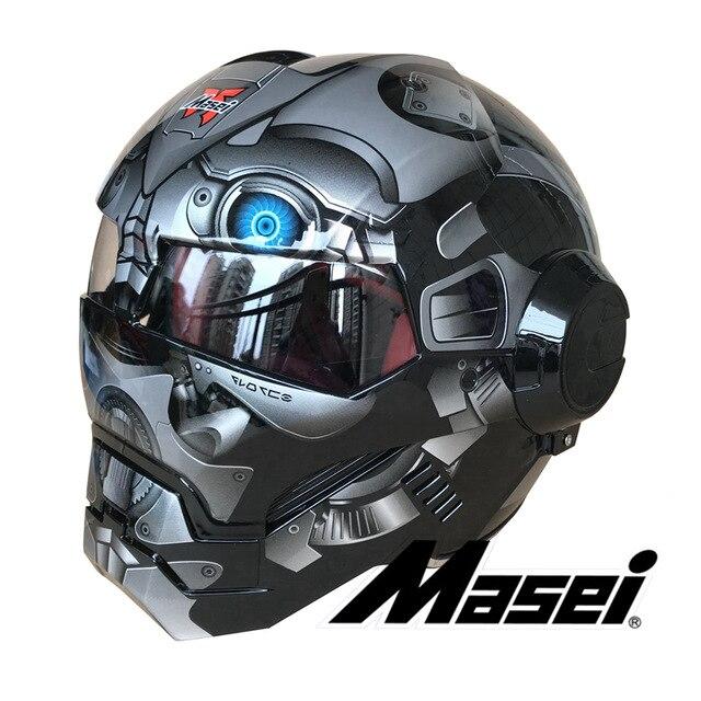 2018 Grey Black Bumblebee MASEI 610 IRONMAN Iron Man Helmet Motorcycle Half Helmet Open Face Helmet