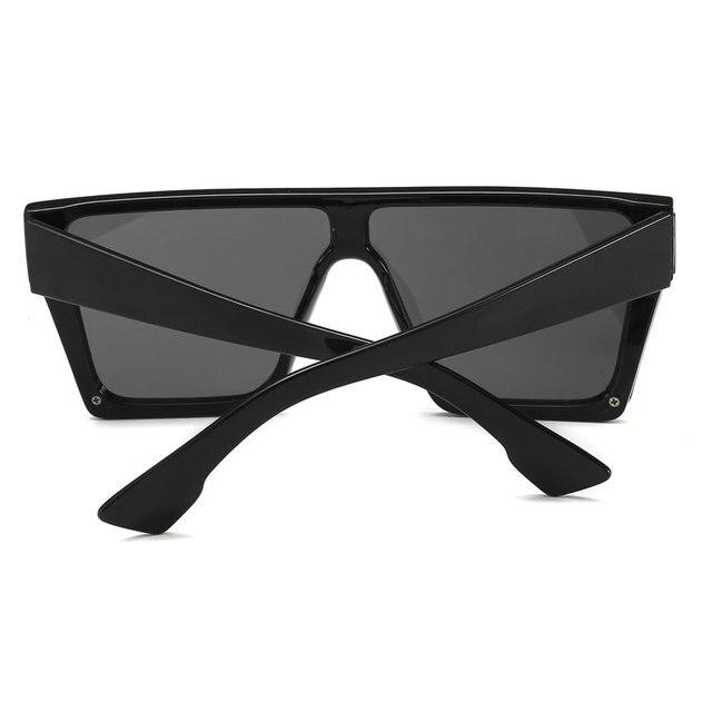 HUHAITANG Oversized Square Flat Sunglasses Women Vintage Luxury Brand Designer Sun Glasses Men Retro Classic Woman For Sunglass 2