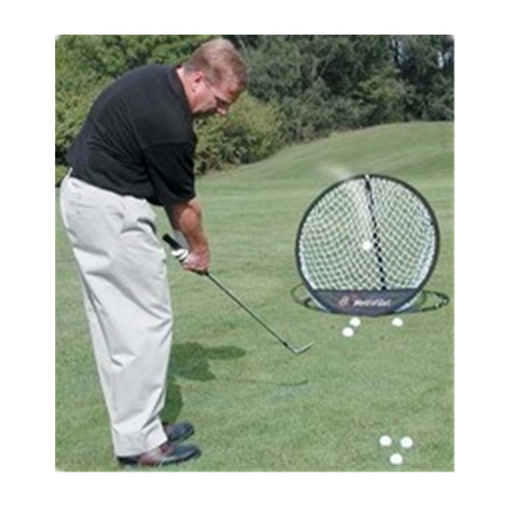 Practice Net Cage Golf Training Net Portable Golf Chipping Net Golf Chipping Pitching Practice Net Hitting Aid Foldable