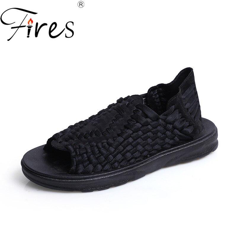 Feux hommes marche baskets été respirant sandales plein air chaussures de plage mâle Cool léger marche Sneaker chaussures confortables
