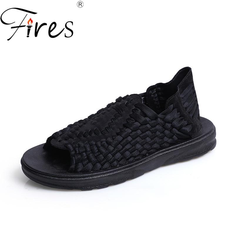 Incendies Hommes Marche Sneakers Été Respirant Sandales En Plein Air Chaussures de Plage Mâle Frais Léger Marche Sneaker Confortable Chaussures
