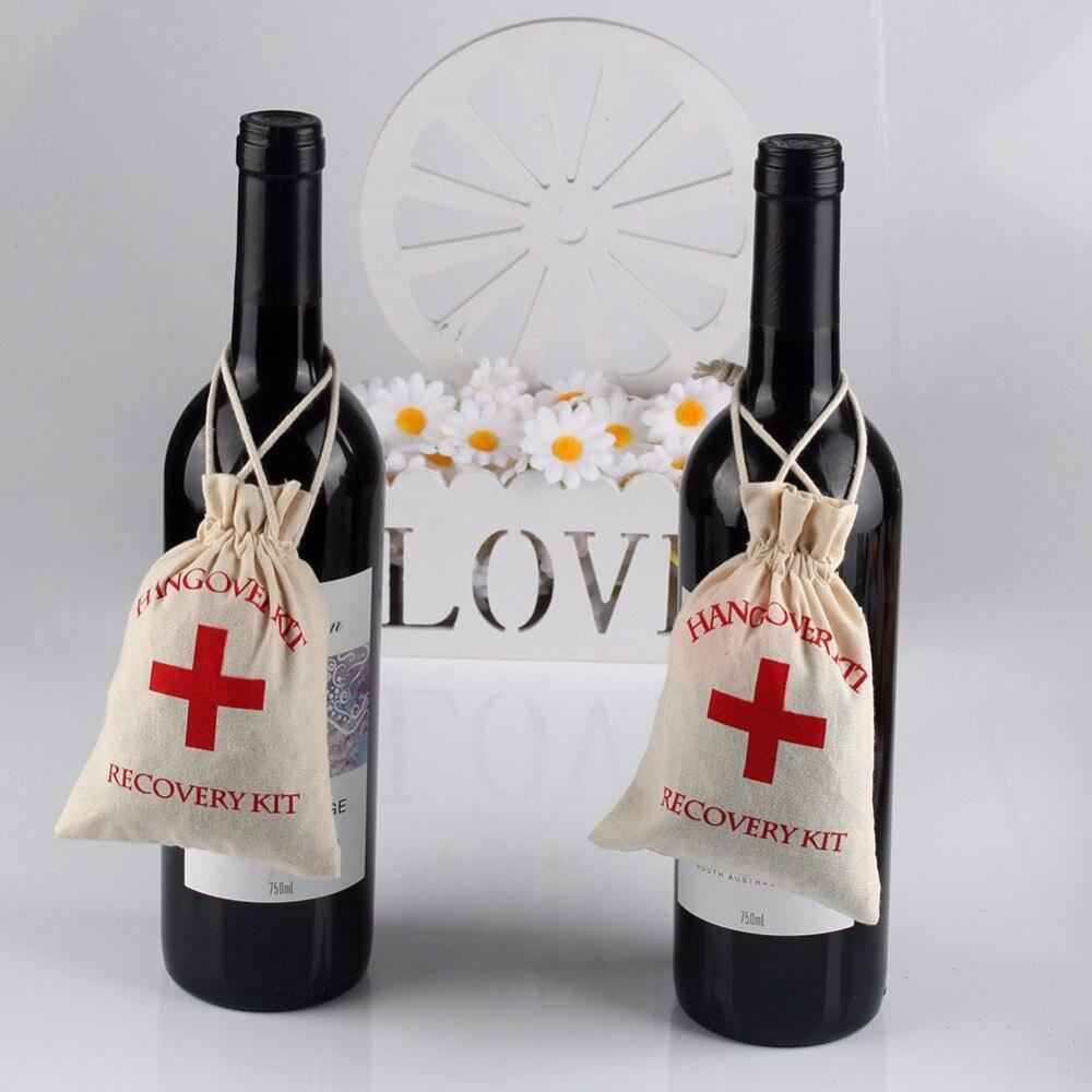 OurWarm 50pcs Hangover Kit 10x14cm Wedding Favor Holder Bag Red ...