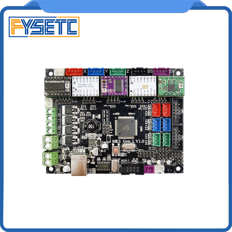 MKS Gen-L V1.0 Integrated Mainboard MKS Gen l For Tornado/Tarantula 3D Printer+5pcs A4988/DRV8825/LV8729/TMC2100/TMC2208/TMC2130 mks gen l v1 0 integrated controller pcb board reprap ramps 1 4 support a4988 drv8825 tmc2208 tmc2130 driver for 3d printer