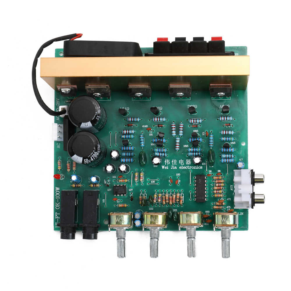 DX-2.1 Dual Home Theater AC18V-24V DIY Persediaan Besar Power Audio Amplifier Papan Channel High Power Subwoofer