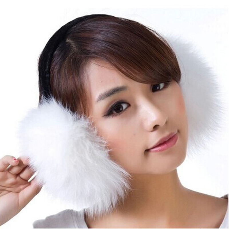 2017 NEW Fashion Brand Women After Hanging Earmuffs In The Winter Keep Warm Rabbit Fur Earmuffs For Women And Men 7 Colors 5103