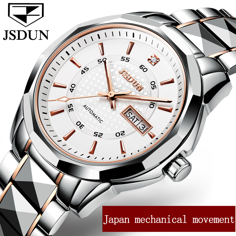 Jsdun часы Для мужчин автоматические механические часы высокого качества мужские наручные часы лучший бренд класса люкс Водонепроницаемость... ...