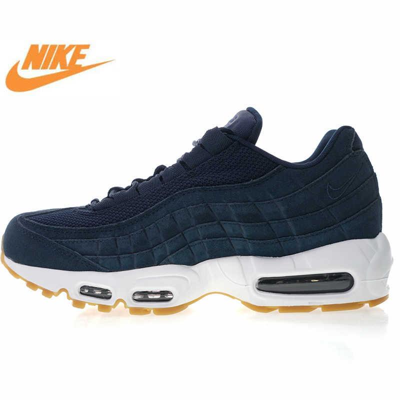 50db224056 New Arrival Authentic Nike Air Max 95 Premium Men's, Running Shoes, Dark  Blue,