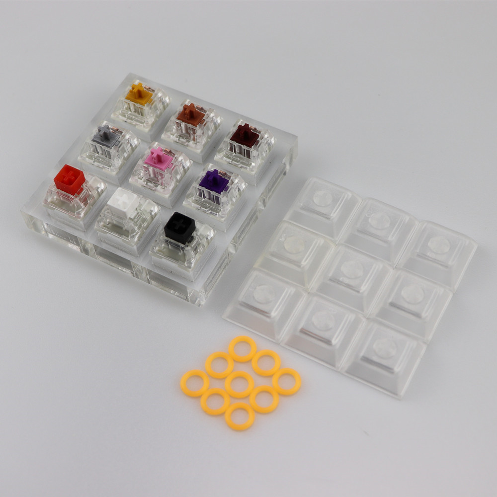 Cool Jazz Mechanical keyboard Kailh Swithes Tester 9 switches DSA keycap Testing Tool ...