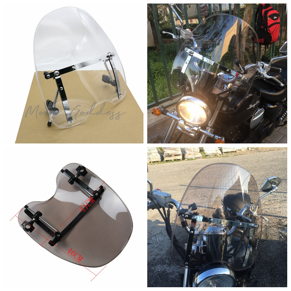 Motorcycle Handlebars Windshield WindScreen For Harley All Models As Dyna Softail Sportster Road King Fat Bob Clear Iridium Лобовое стекло