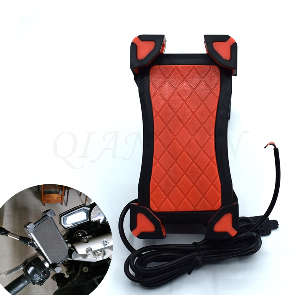 Persevering Universal Motorcycle Phone Holder Mobile Stand For Moto Support Usb Charger Holder For Ktm 125/200/390 Duke Rc125/200/390 Delicious In Taste Back To Search Resultsautomobiles & Motorcycles