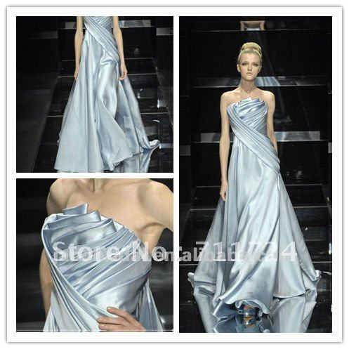 Y A Line Iridescent Satin Wedding Dresses