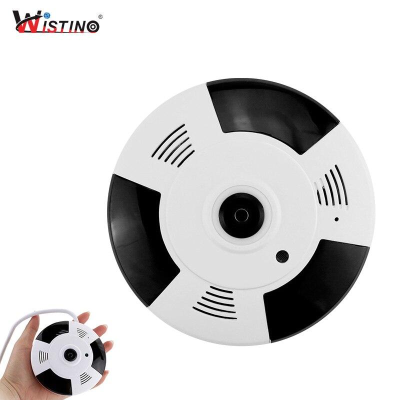 Wistino VR Mini Wireless Camera HD 960P Smart Home Baby Monitor Wifi IP Camera Fisheye Camera Alarm CCTV Surveillance Security цена
