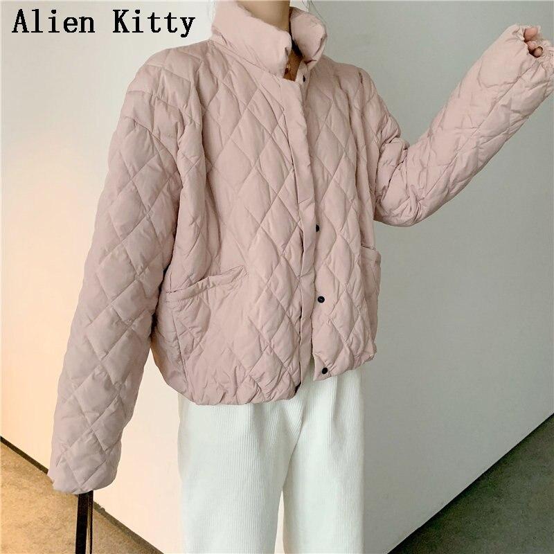 Alien Kitty Molla di Modo di Inverno di Modo casual casual Rivestimento Delle Donne del Cappotto Della Tuta Sportiva Delle Signore Alla Moda Del Cappotto Fresco All-Mach Carino