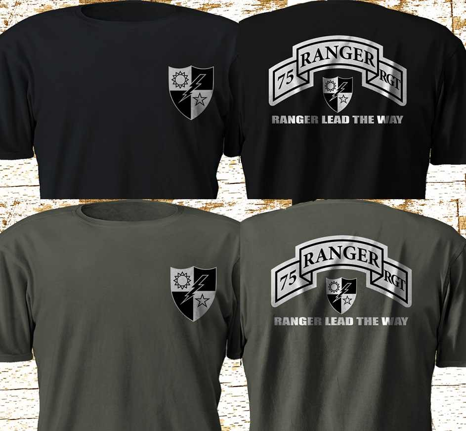 7d305a1199c New 75th Ranger Regiment Army Rangers US Army Military Special Force S-3XL  2019 Fashion