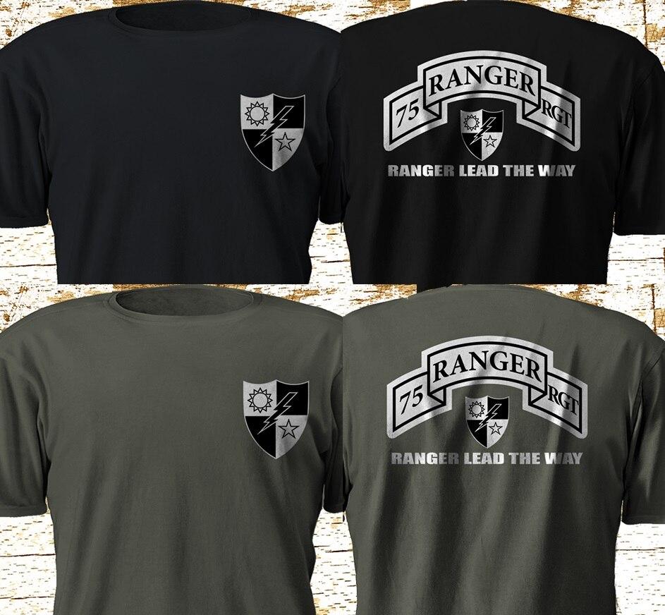 Nueva camiseta 75th Ranger Regiment Army Rangers US Army Military Special Force S-3XL 2019 Color sólido para hombres Pala táctica multifunción montacargas militar para exteriores con pala para nieve todoterreno pala plegable para supervivencia al aire libre