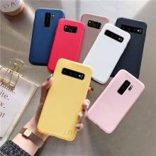 Permen Warna Silikon Di untuk Samsung Galaxy S10 5G S10e S10 Plus S9 S8 S7 S6 EDGE Lembut TPU Back Cover Coque(China)