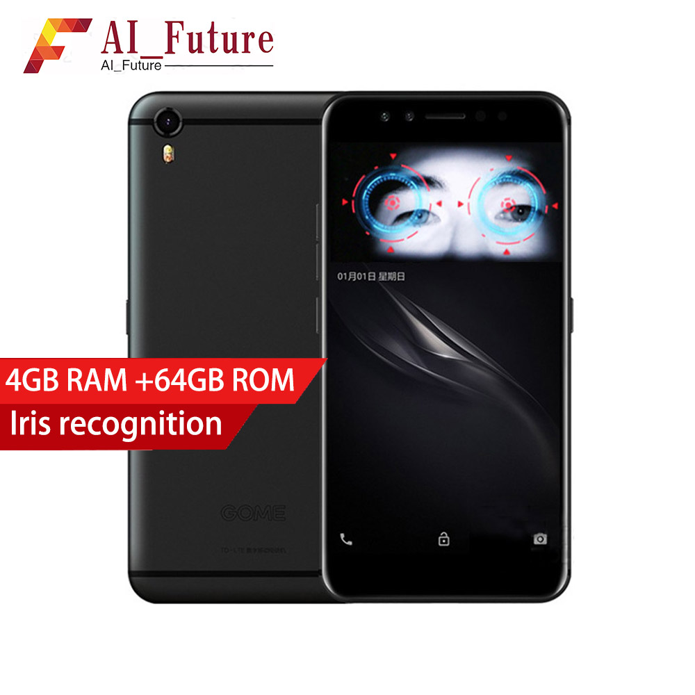 Original GOME K1 4G LTE Smartphone 4G RAM 64G/128G ROM 5,2 zoll 1080 P MTK6757 2,3 GHz Octa-core Android 6.0 Mobile telefon