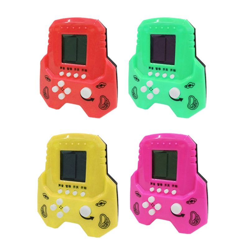 Hand Held Mini Tetris Game Machine Electronic Toys Brick Toys Educational Game Gifts For Children