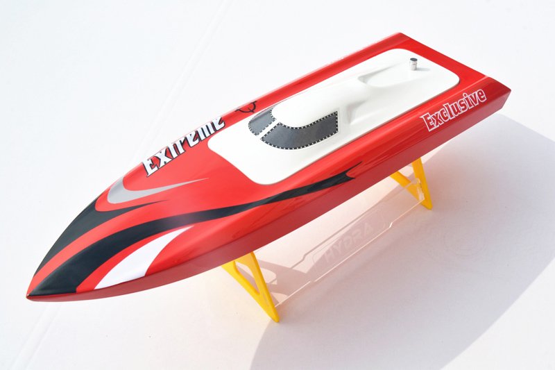 M455 Deep Vee Electric Fiber Glass Brushless Motor RC Racing Boat KIT Bare Hull Only Monohull Mini RC Boat Red W/O Metal Parts