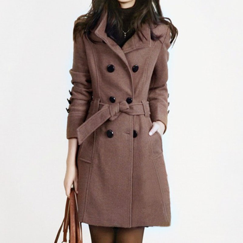 Popular Fitted Wool Coat-Buy Cheap Fitted Wool Coat lots from ...