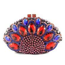 LaiSC Pfau form damen handtasche rot diamantkristall frauen partei taschen vintage braut hochzeit mini handtasche abendtasche SC024