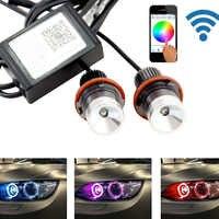 2 teile/para Wifi control cree chip LED Marker Angel Eyes RGB Halo Ring Licht für BMW E39 M5 E87 E60 e63 E64 E65 E66 X3 X5 E53