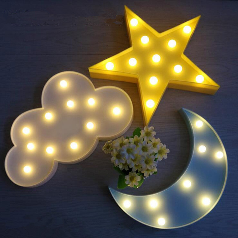 YENI 3D Marquee LED Duvar Lambası Gece Lambası Gökyüzü Bulut - Gece Lambası - Fotoğraf 1