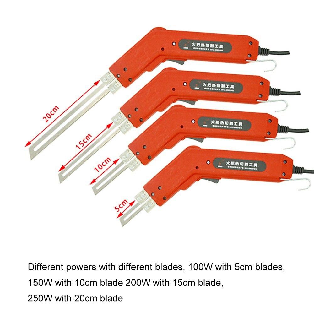 Nouveau couteau de chauffage électrique à main US/EU 220 V/110 V styromousse électrique mousse fil de chaleur outil rainurage lames de coupe divers Kit